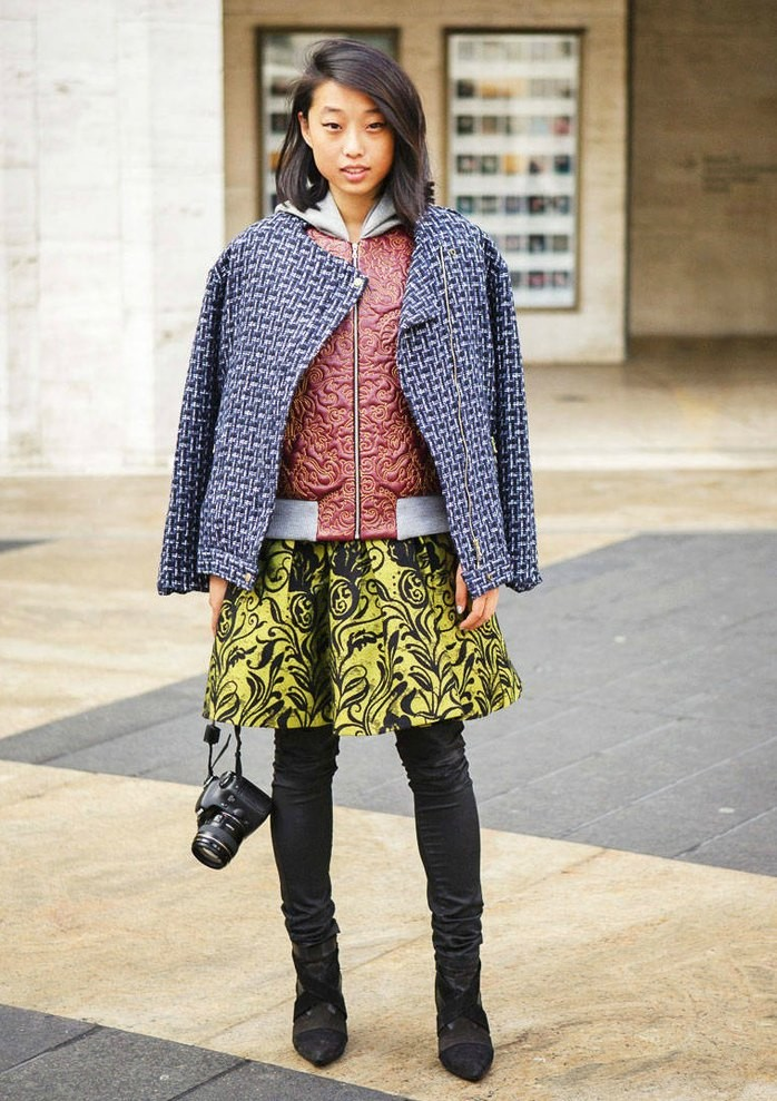 Margaret-Zhang-Street-style-Inspiration-print-clash-breakfast-with-audrey-e1427664390931