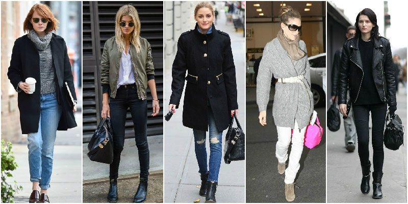 How to wear skinny jeans winter 2015
